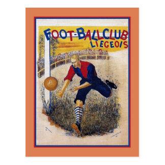 Carte Postale Affiche 1894 d'annonce du football du football de