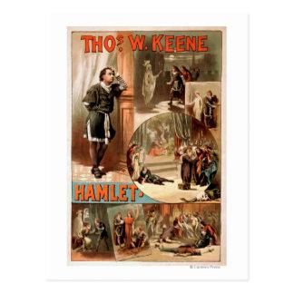 "Carte Postale Affiche de théâtre de William Shakespeare ""Hamlet"""