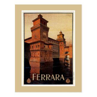 Carte Postale Affiche italienne vintage de voyage de Ferrare