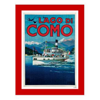 """Carte Postale Affiche italienne vintage de voyage de """"Lago di"""