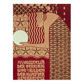 Carte Postale Affiche pour la 14ème exposition de Vienne
