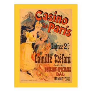 Carte Postale Affiche vintage d'art du casino De Paris