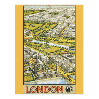 Carte Postale Affiche vintage de voyage de Londres