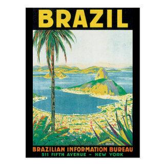 Carte Postale Affiche vintage de voyage du Brésil