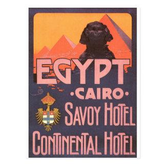 Carte Postale Affiche vintage de voyage du Caire Egypte