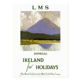 Carte Postale Affiche vintage de voyage reconstituée par Donegal