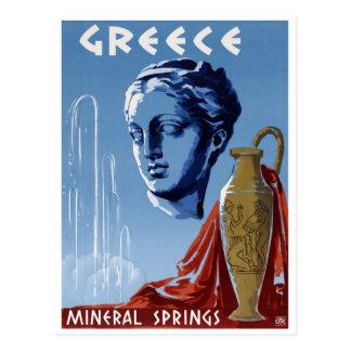 Carte Postale Affiche vintage Resto de voyage de sources d'eau