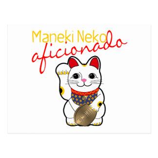 Carte Postale Aficionado de Maneki Neko