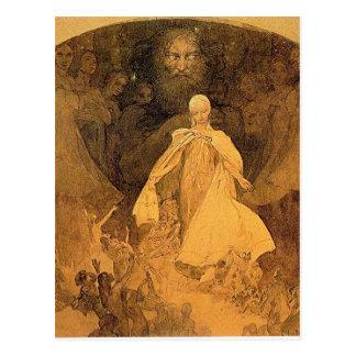 Carte Postale Âge de la sagesse par Alphonse Mucha