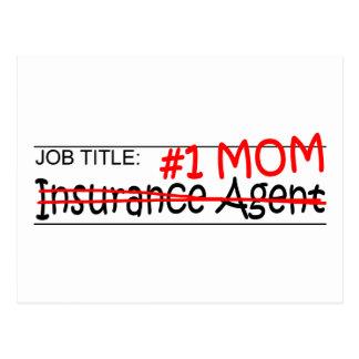 Carte Postale Agent d'assurance de maman du travail