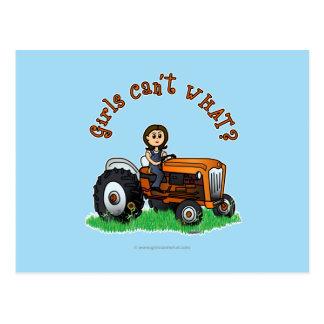 Carte Postale Agriculteur orange-clair