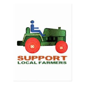 Carte Postale Agriculteurs de soutien