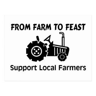 Carte Postale Agriculteurs de soutien de la ferme à régaler