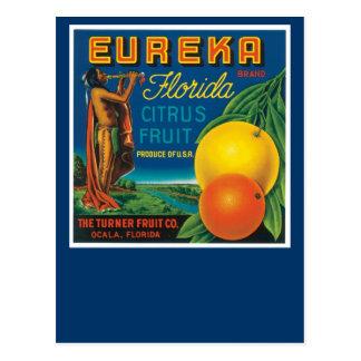 Carte Postale Agrumes de la Floride de marque d'Eureka
