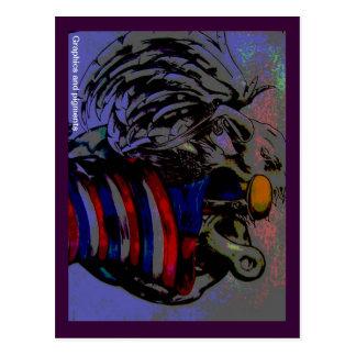 Carte Postale aigle avec le drapeau