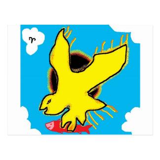 Carte Postale aigle de flamme
