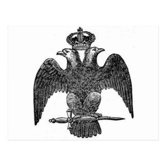 Carte Postale aigle Double-dirigé