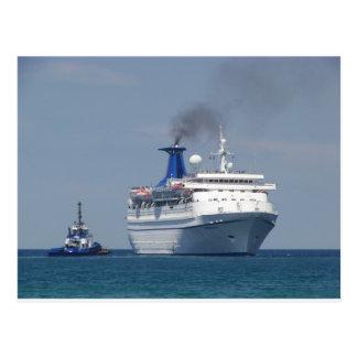 Carte Postale Aigue-marine de bateau de croisière