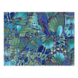 Carte Postale Ailes de papillon de turquoise