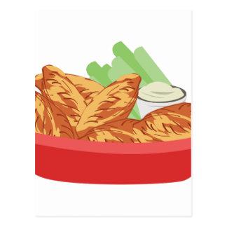 Carte Postale Ailes de poulet