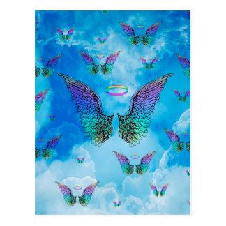 Carte Postale Ailes et nuages d'ange