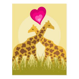 Carte Postale Aimez une girafe