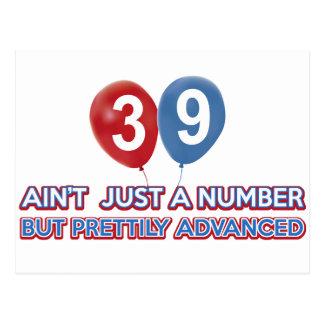 Carte Postale aint 39 juste un nombre