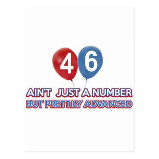 Carte Postale aint 46 juste un nombre