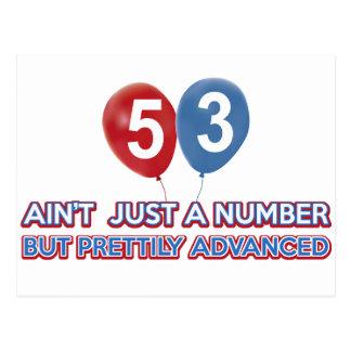 Carte Postale aint 53 juste un nombre