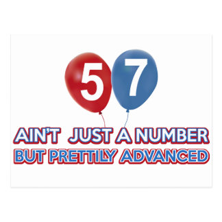 Carte Postale aint 57 juste un nombre