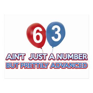 Carte Postale aint 63 juste un nombre