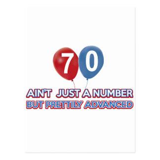 Carte Postale aint 70 juste un nombre