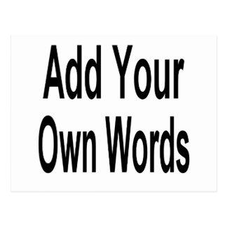 Carte Postale Ajoutez votre propre mot