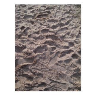 Carte Postale Ajoutez votre propre texte, écrivant en sable,
