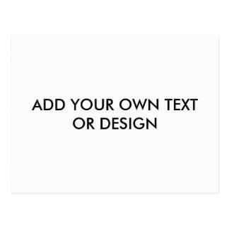 Carte Postale Ajoutez votre propre texte ou conception,
