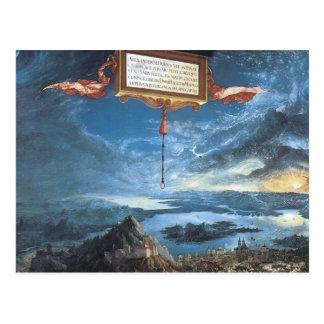 Carte Postale Albrecht Altdorfer la bataille d'Alexandre