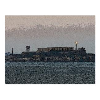 Carte Postale Alcatraz au crépuscule