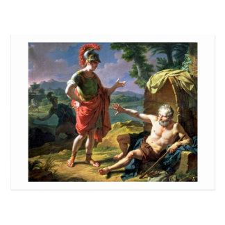 Carte Postale Alexandre et Diogène, 1818 (huile sur la toile)