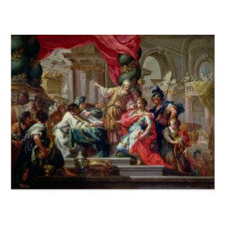 Carte Postale Alexandre le grand dans le temple de Jérusalem