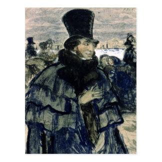 Carte Postale Alexandre Pushkin sur le remblai de Neva