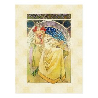 Carte Postale Alfons Mucha Princezna 1911 Hyacinta
