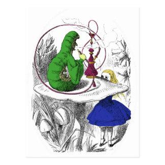 Carte Postale Alice au pays des merveilles - Caterpillar