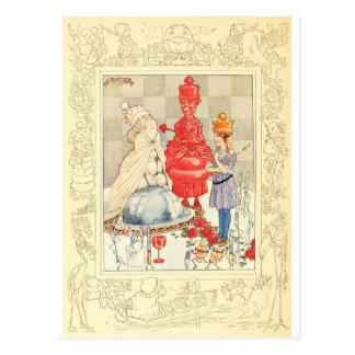 Carte Postale Alice au pays des merveilles et l'énigme de