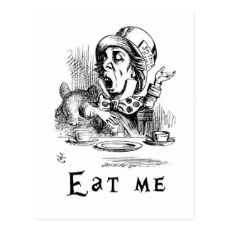 Carte Postale Alice au pays des merveilles - mangez-moi