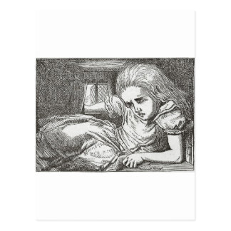 Carte Postale Alice au pays des merveilles tourne le géant