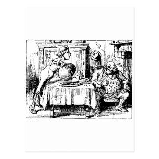 Carte Postale Alice chez des hommes du pays des merveilles