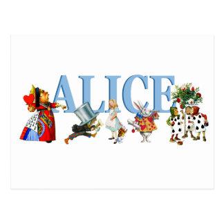 Carte Postale Alice et amis au pays des merveilles