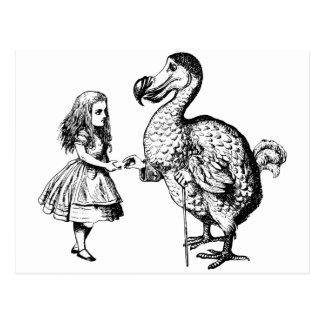Carte Postale Alice et la dronte