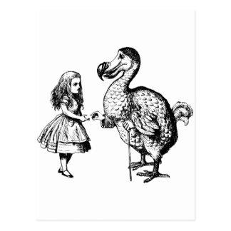 Carte Postale Alice et la dronte ont encré le noir