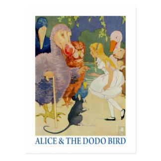 Carte Postale Alice et l'oiseau de dronte